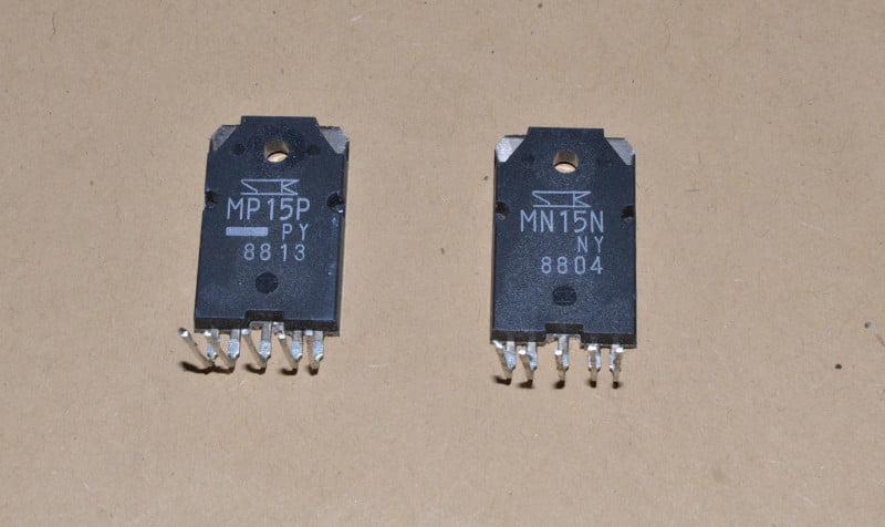 Transistors MN15N, MP15P