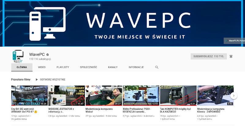 Obrazek kanału WavePC. Naprawa i modernizacja komputerów.