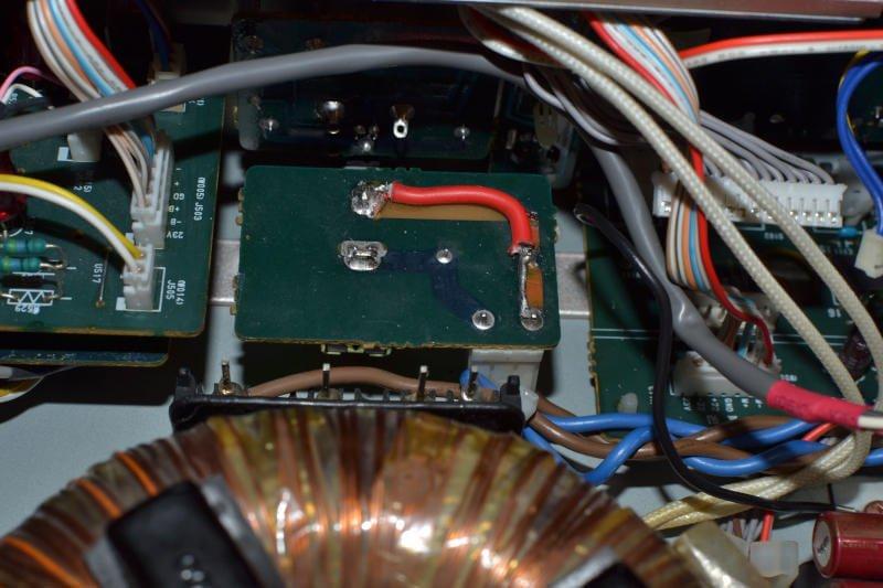 PCB, wyłącznik wzmacniacza.